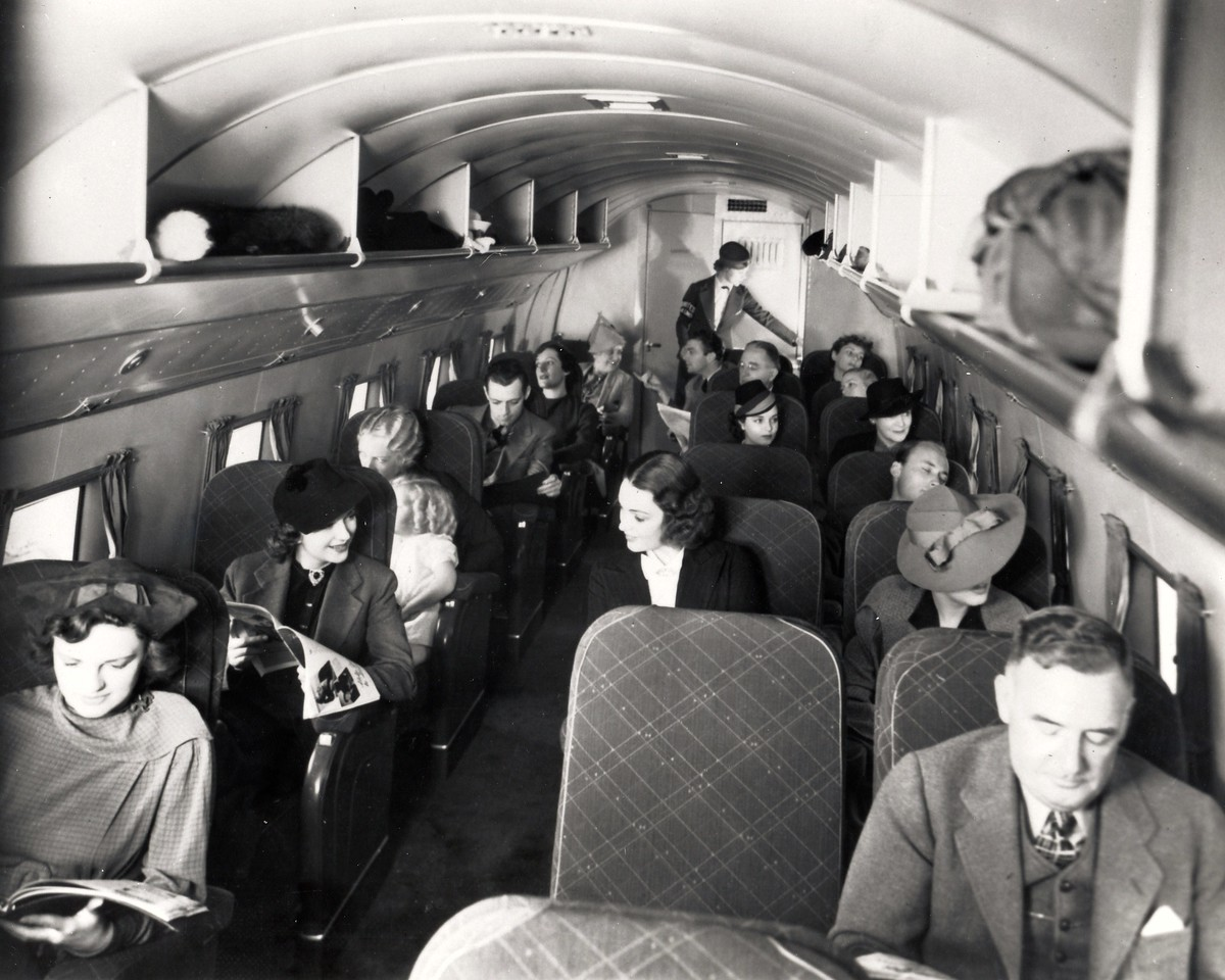 Compared to Boeing's model 247 airliner of the time, the passenger cabin of the Douglas DC-3 was very spacious.