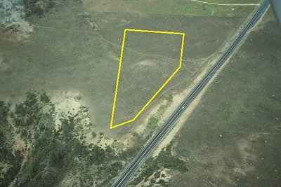 THE ACCIDENT SITE - 1993<br /> <br /> With copies of the aerial photos taken in 1947, it was an easy process to locate the crash site from the air.
