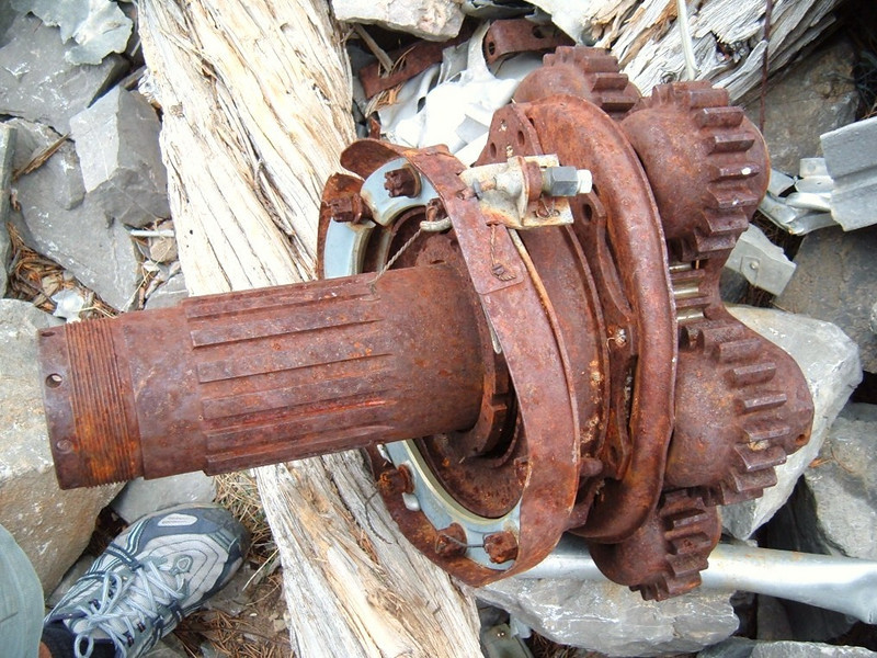 A planetary reduction gear from one of the aircraft's engines. (Lostflights Photo)