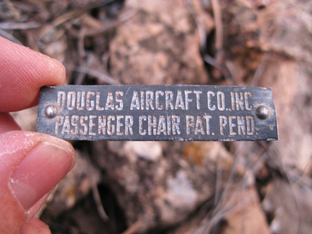A data placard from a passenger chair. (Lostflights Photo)