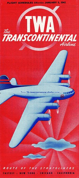 This TWA airline timetable dated January 5th 1942 would have provided travel information for passengers booked on TWA's Flight 3. (LostFlights Photo)