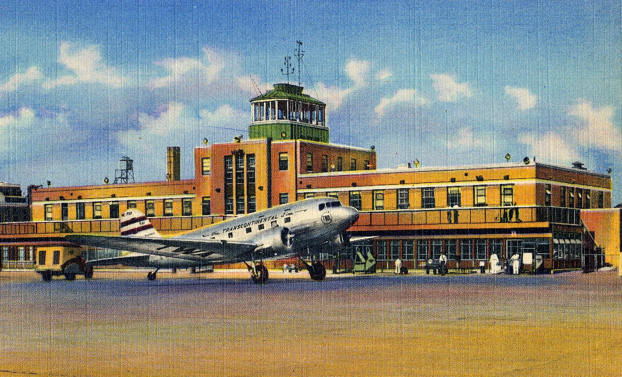 At 10:47 AM, Flight 3 arrived at Kansas City, MO. At this stop the flight would take on fuel, additional passengers, and about 117 pounds of Air Mail. At 11:33 AM, Flight 3 departs Kansas City for Wichita.