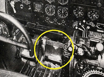 The DC-3's rudder pedals are located on the floor of the cockpit in front of the Captain and Co-Pilot. (Lostflights Photo)