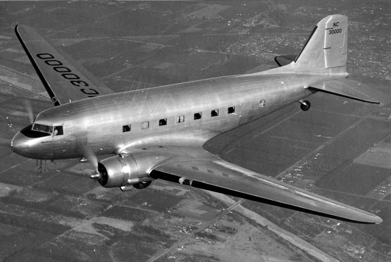 Douglas DC-3 (NC45395) S/N: 11642, was a converted C-53D-DO that was utilized as a troop and cargo transport by the military during World War II. <br /> <br /> The aircraft accumulated a total time of 3,699 hours since it's first flight in 1943. The aircraft was leased from the War Assets Corporation and modified to Western Air Lines specifications. <br /> <br /> The aircraft was placed into commercial service by Western Air Lines on December 13, 1945.