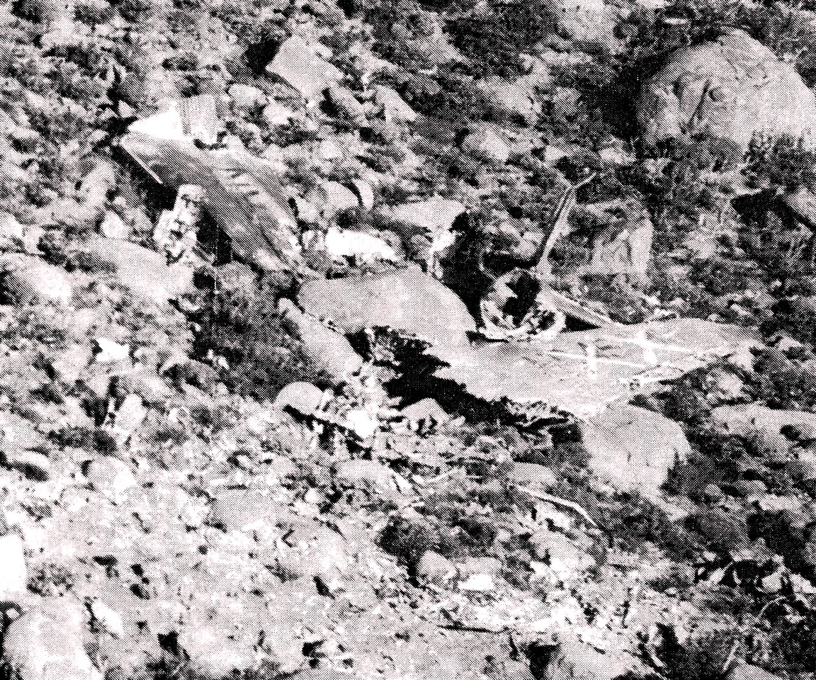"During the 1960s, the wreckage of WAL Flight 44 was marked by painted yellow ""X""s to mark the site as a known crash site."