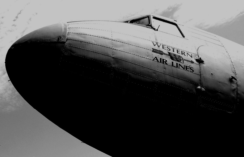 Founded in 1925, Western Air Lines was a large airline based in California, with operations throughout the Western United States, and hubs at Los Angeles International Airport and Salt Lake City International Airport. <br /> <br /> During the 1940s, Western Air Lines operated a fleet of Douglas DC-3 Airliners.<br /> <br /> Western Airlines ceased operations on September 9, 1986.