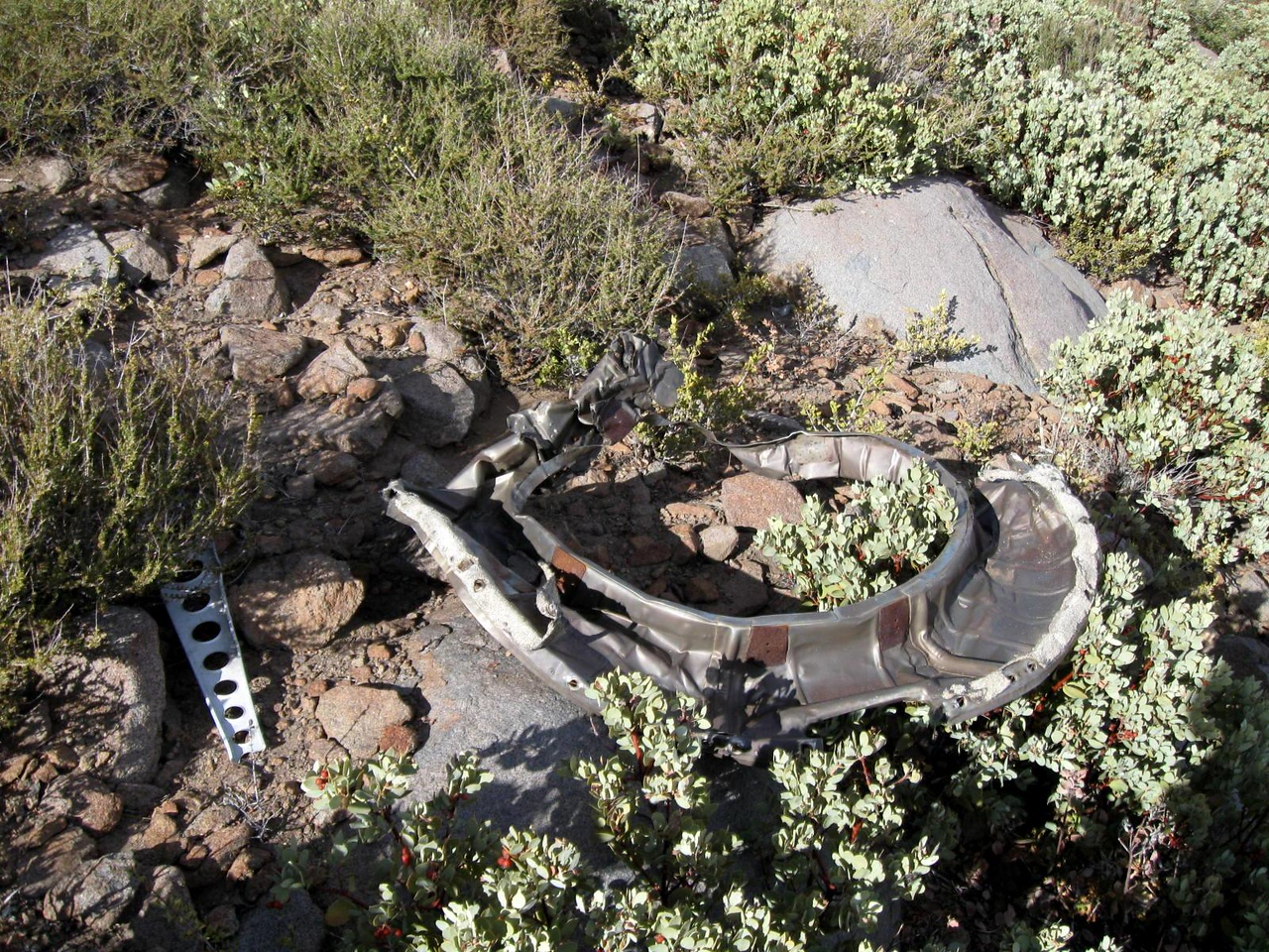 An engine firewall pan assembly was another identifiable fragment.