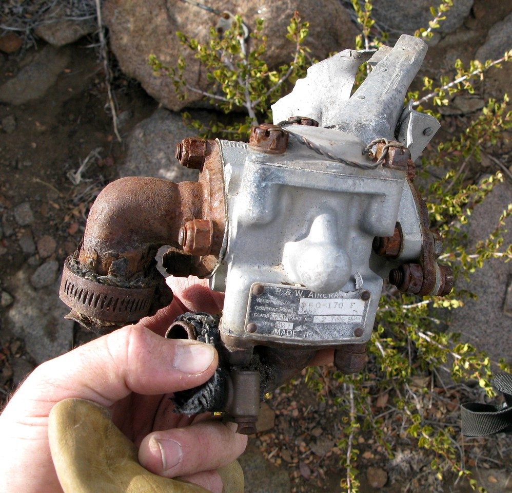 This fuel shutoff valve was manufactured by Pratt & Whitney.