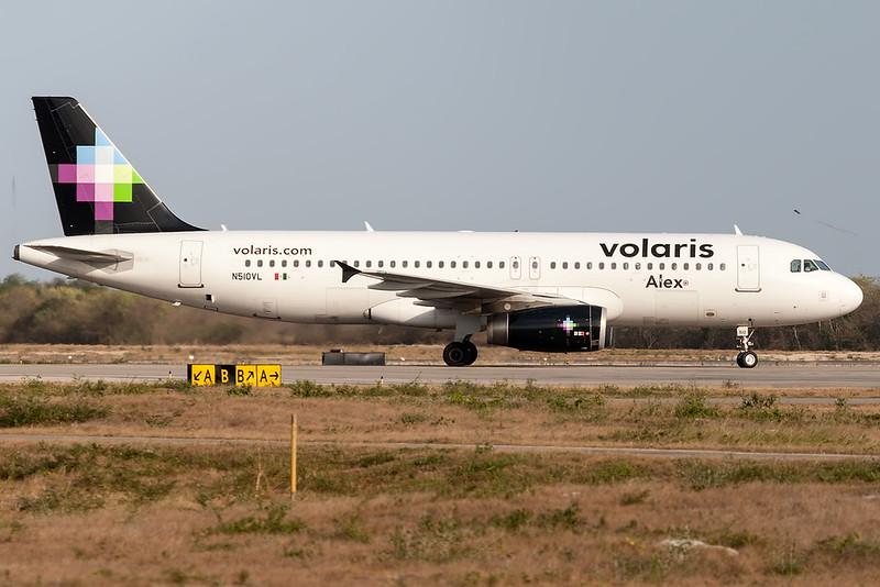 2012 Airbus A320-233 C/N 5207<br /> VOI754 MEXMID<br /> <br /> Manuel Crescencio Rejon Intl Airport (MID | MMMD)<br /> Merida, Yucatan <br /> Mexico<br /> <br /> [Canon EOS 1D Mark III + EF 100-400mm f4.5-5.6L USM]