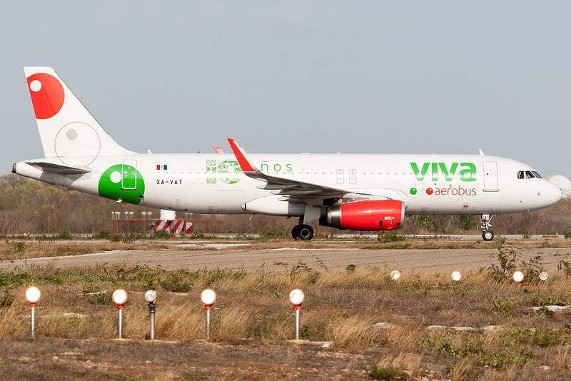2016 Airbus A320-232 C/N 7034<br /> VIV3306 MEXMID<br /> <br /> Manuel Crescencio Rejon Intl Airport (MID | MMMD)<br /> Merida, Yucatan <br /> Mexico<br /> <br /> [Canon EOS 1D Mark III + EF 100-400mm f4.5-5.6L USM]