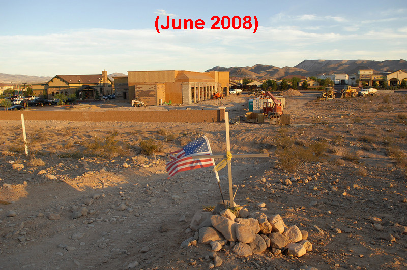 June 2008. Construction begins on commercial developments that will in effect cover the remainder of the United Flight 736 main impact site.