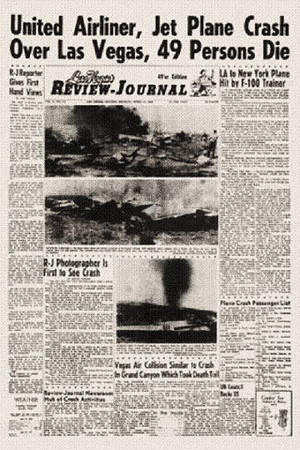 THE MEDIA AND PUBLIC REACTION:<br /> <br /> The local Las Vegas Review Journal's headlines the following day.
