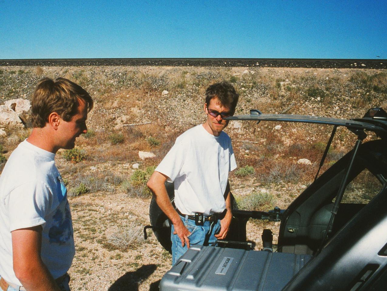 Craig Fuller of AAIR and Doug Scroggins of Lost Birds Aviation Archaeology.