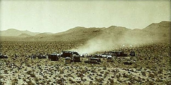 Another view of the DC-7 crash site looking south.