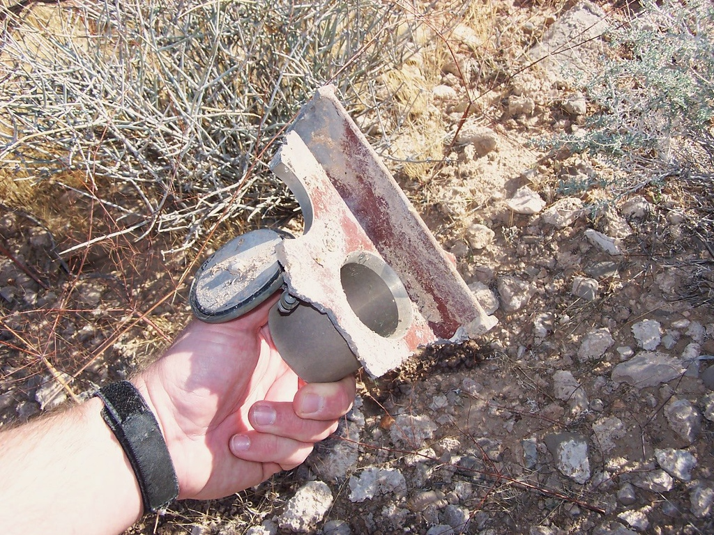 """This was the third """"free-fall"""" fragment located during my search of the debris field. (LostFlights)"""