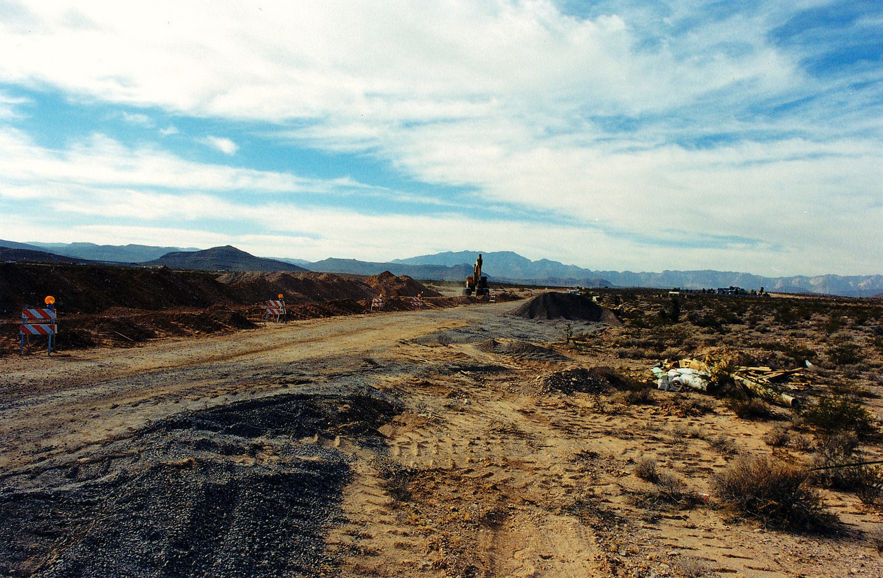 Cactus Road was being transformed from a one way dirt road to a four lane paved city street.