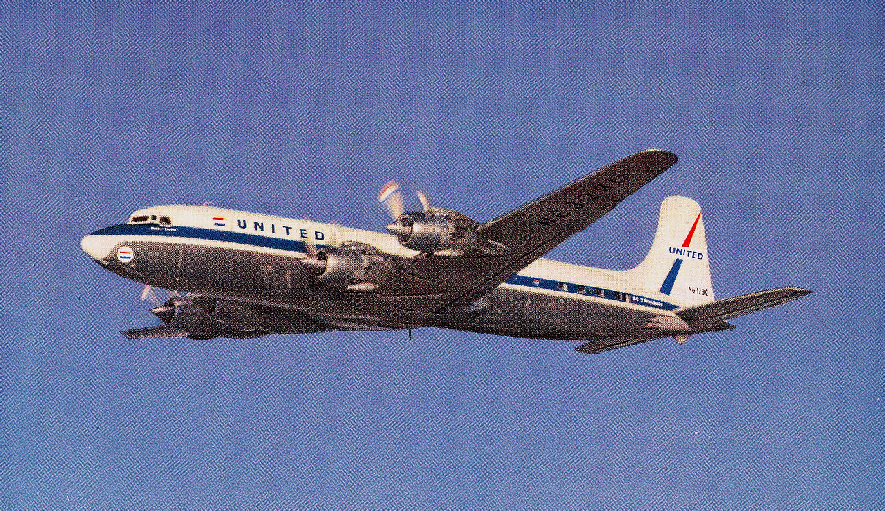 United Air Lines operated fifty-seven Douglas DC-7s during the 1950s and 1960s.