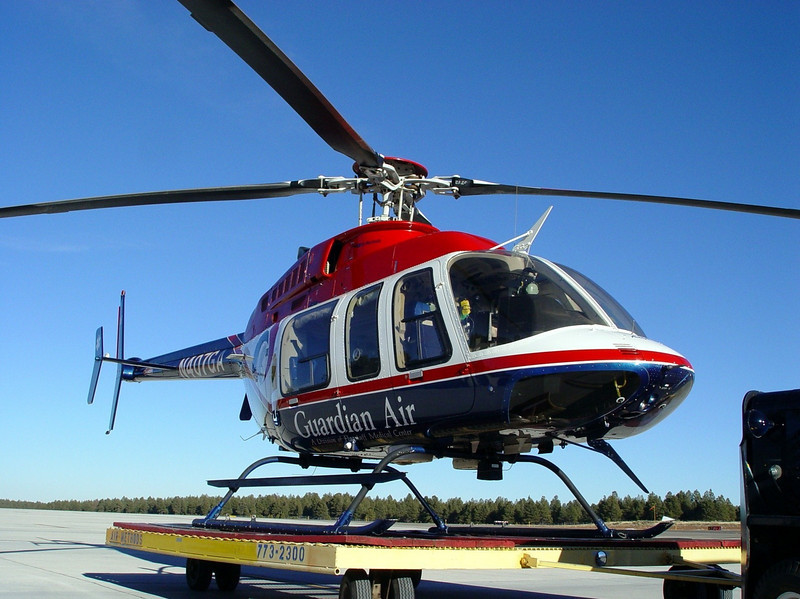 """N407GA, Call sign: """"Angel 1"""" was a Bell/Textron Model 407 Helicopter that was based in Flagstaff, Arizona."""