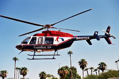 N407GA made numerous flights between Flagstaff and Phoenix saving many lives.