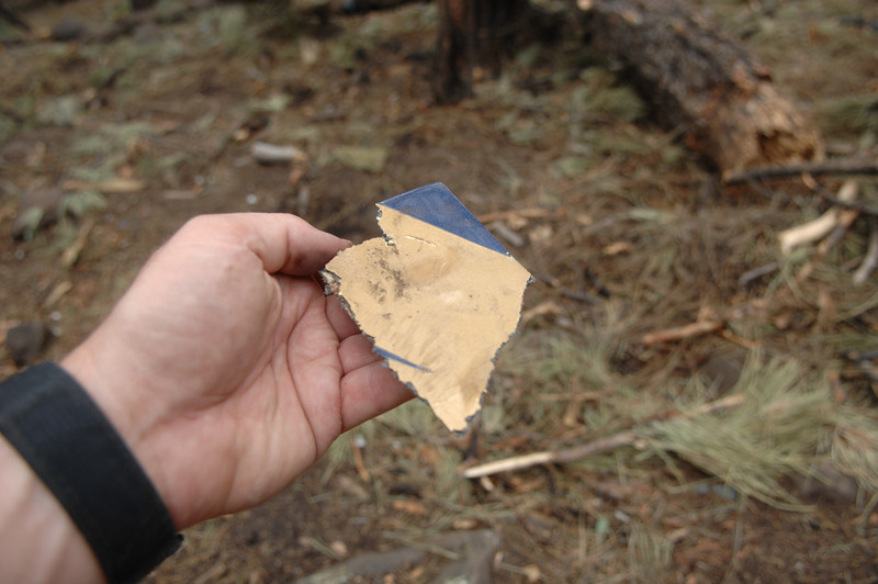 Another small fragment from the helicopter's cabin outer structure. (2008 LostFlights)