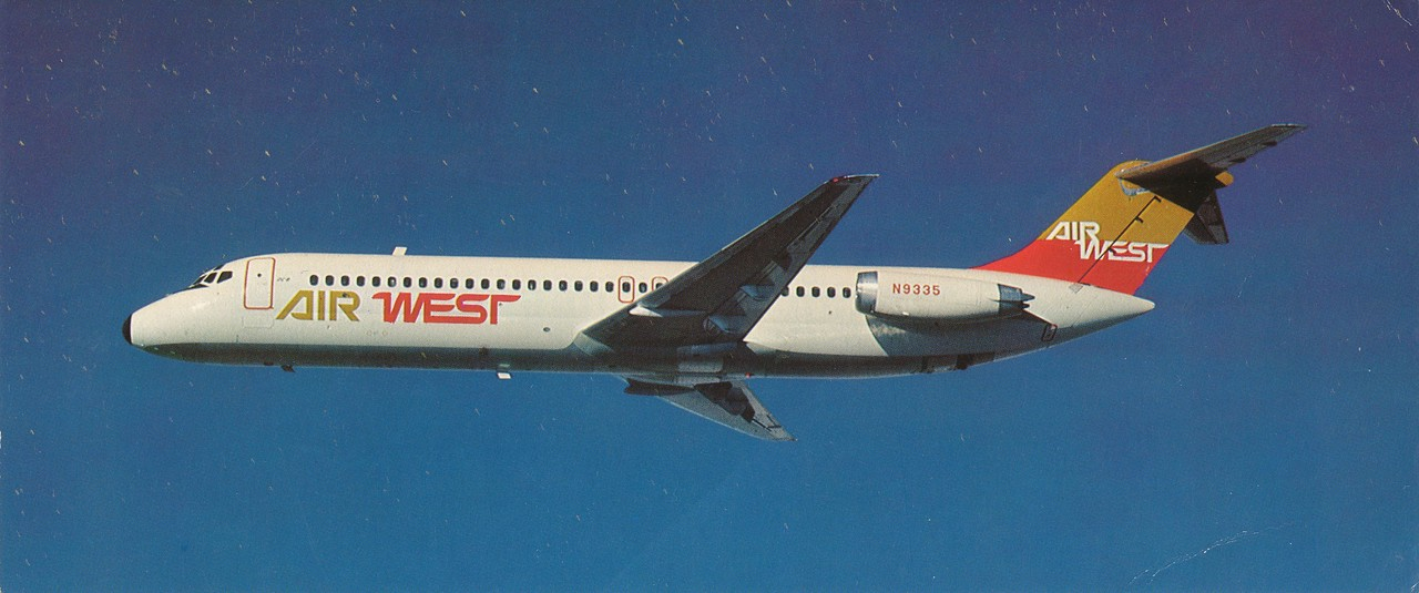 The Douglas DC-9 Series of jets provided jet service to smaller growing communities. It was able to operate from shorter runways.  (LostFlights File Photo)