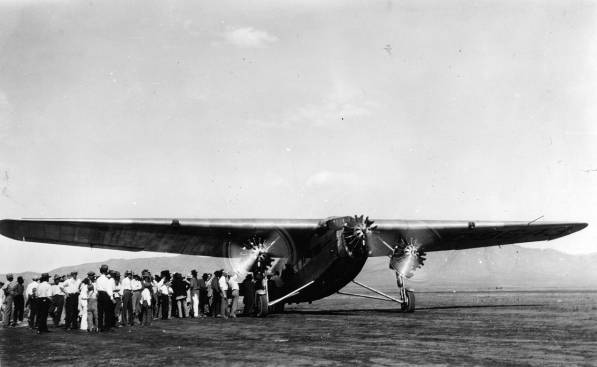 """On September 3, 1929, the """"City of San Francisco"""" departed Albuquerque's Airport for Winslow, Arizona. The ultimate destination was Los Angeles, California.<br /> <br /> On board were five passengers:<br /> <br /> Corina A. Raymond<br /> Amasa B. McGaffey<br /> Harris Livermore<br /> Mark M. Campbell<br /> William H. Beers"""