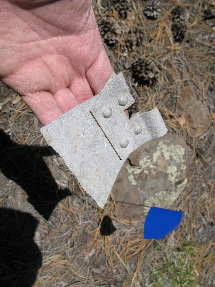 Located at the crash site was a fuel tank support strap buckle used to secure one of the three fuel tanks on the aircraft.