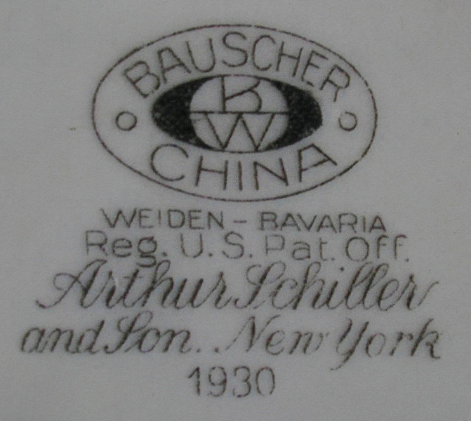 An example of the Bauscher Bavarian China logo stamp.