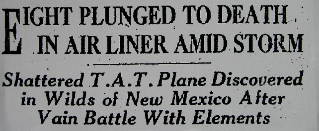 "As with newspaper headlines today, a story of an airplane crash always captures the front page. The crash of the ""City of San Francisco"" made the public question the safety of early air travel."