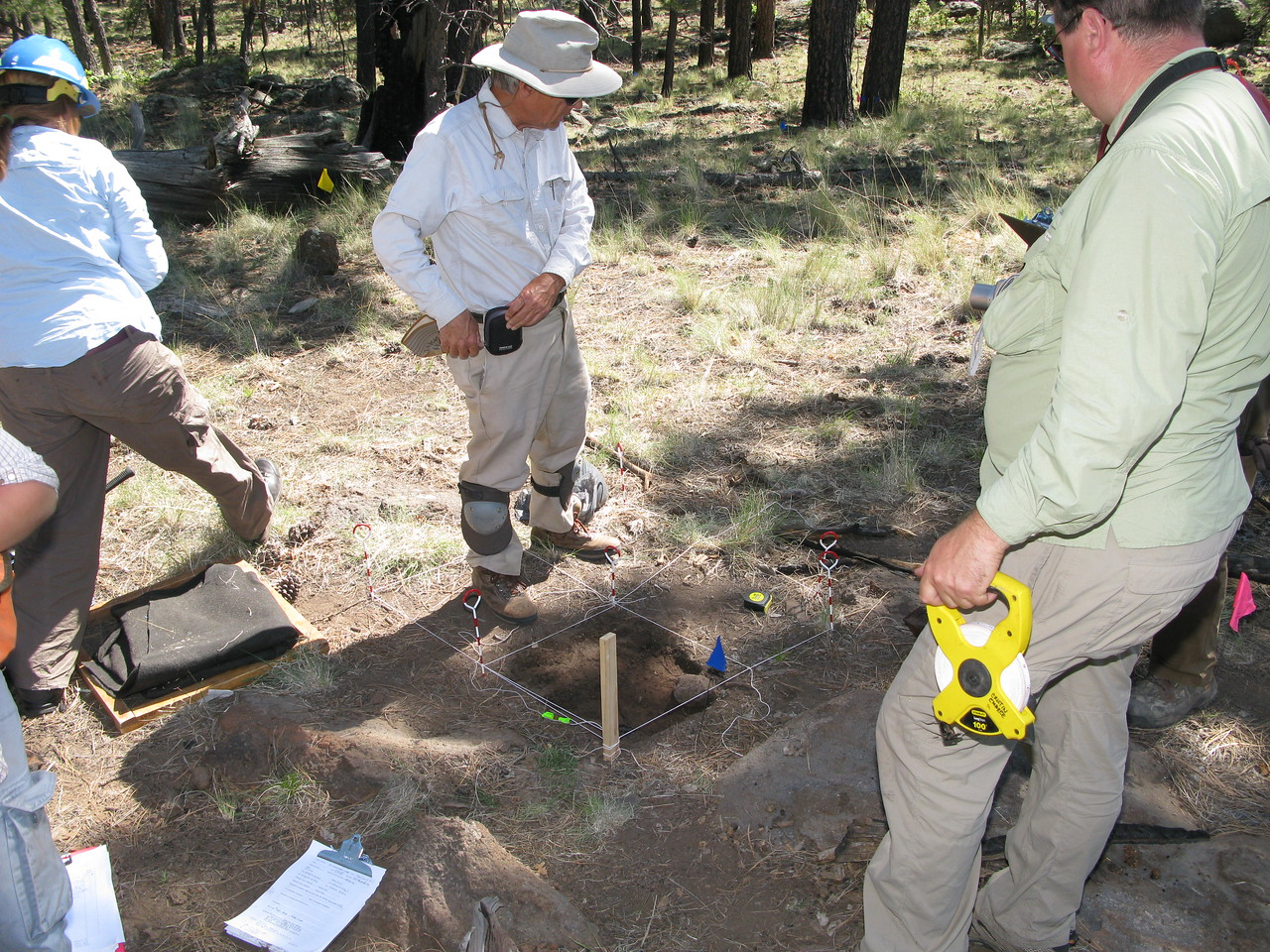 The excavation grids were divided into separate quads to help in the mapping of sub-surface artifacts.