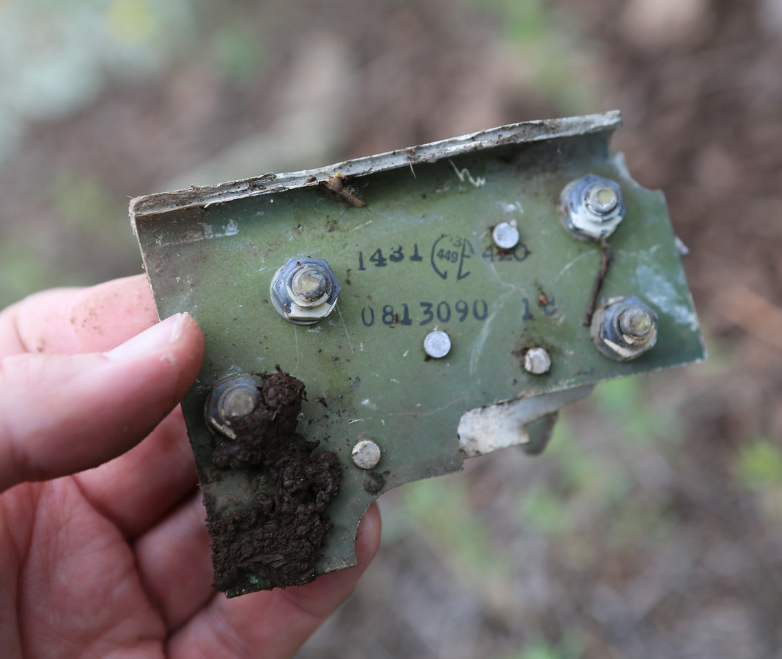 This piece of internal aircraft structure was not only marked with a Cessna inspection stamp, but also featured a component part number.