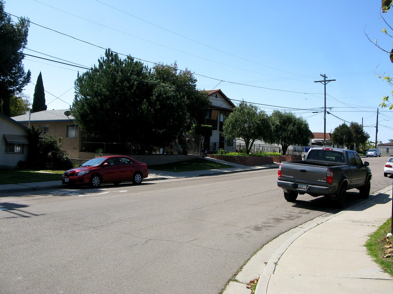 Looking down Dwight Street. The houses in this photo were constructed after the accident. The previous structures were destroyed by fire.