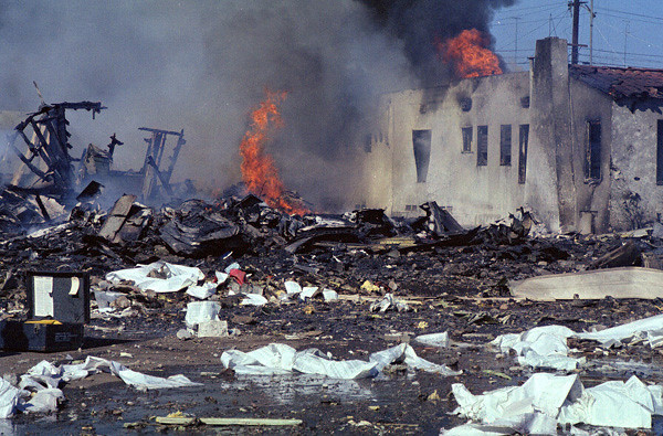 A total of seven casualties were accounted for at the impact site of Flight 182 as well as numerous serious injuries.