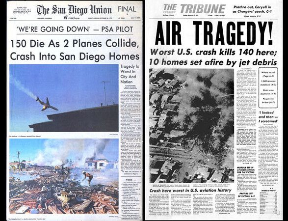 Newspaper headlines of the air tragedy appeared around the globe, but for San Diego the disaster was beyond imaginable.
