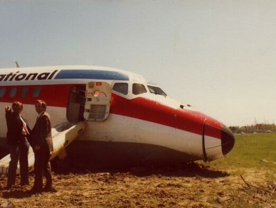 THE YEARS FOLLOWING FLIGHT 655<br /> <br /> For Texas International Airlines, the tragedy of Flight 655 would remain the airline's only fatal accident. <br /> <br /> As the airline advanced into the DC-9 series jet aircraft, smaller incidents would occasionally occur, such as this runway overrun event during March 1980 at Baton Rouge, Louisiana.