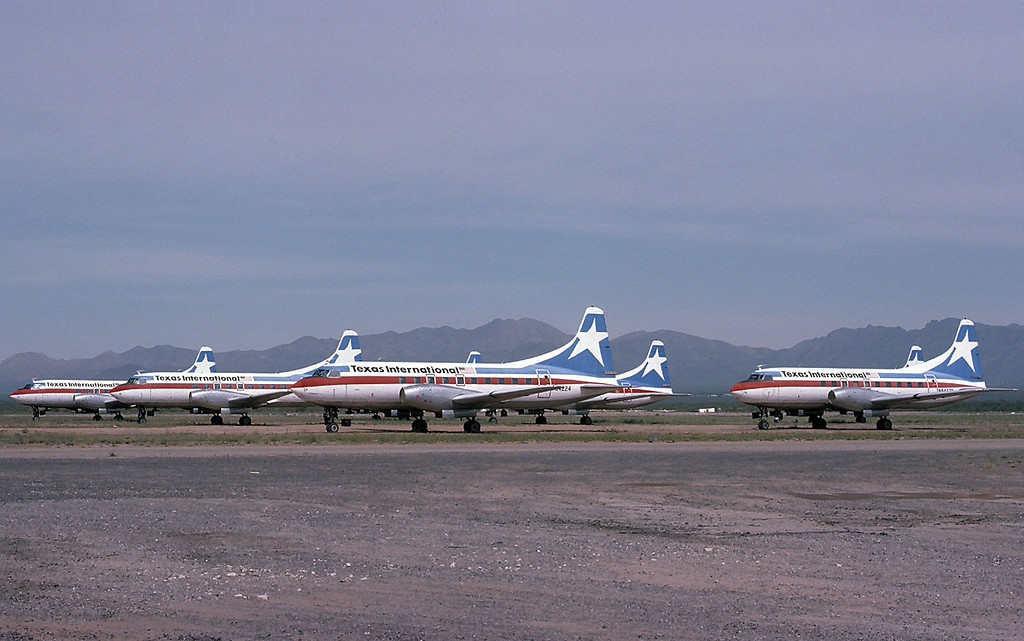 END OF AN ERA<br /> <br /> With the introduction of jet service complete, the Convair 600's were retired one by one in the Arizona desert. The last Texas International aircraft was seen in 1983 as the airline was completely absorbed by Continental.<br /> <br /> ***THE END***