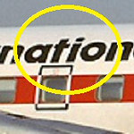 This photo of the airline's name painted on the aircraft mid-section depicts the lettering found at the crash site.