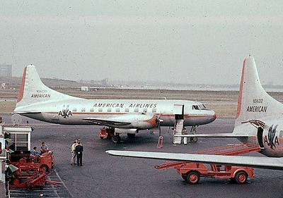 "THE AIRCRAFT<br /> <br /> Originally manufactured in 1948 by Convair as a Model 240, N94230 (S/N: 56) was delivered to American Airlines on April 23, 1948. It was operated by American until 1961. <br /> <br /> During its time with American Airlines, the aircraft operated under the names ""Flagship Columbus"" and ""Flagship Kitty Hawk"". Trans-Texas Airways purchased the aircraft from American on February 20, 1961"