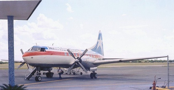 SEPTEMBER 27, 1973 - EL DORADO, ARKANSAS<br /> <br /> Texas International Flight 655 was delayed on the ground as the crew waited for a line of thunderstorms to disapate for it's continuation to Texakana, Arkansas.<br /> <br /> Pressured by the schedule and hoping to find a break in the storm enroute, the crew boarded their 8 passengers and departed at night under VFR conditions.