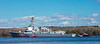 The USS Michael Murphy, an Arleigh Burke class destroyer, returning up the Kennebec River to BIW from Sea Trials. 1