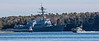 The USS Michael Murphy, an Arleigh Burke class destroyer, returning up the Kennebec River to BIW from Sea Trials. 4