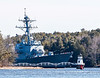 The USS Michael Murphy, an Arleigh Burke class destroyer, returning up the Kennebec River to BIW from Sea Trials. 3