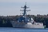 The USS Michael Murphy, an Arleigh Burke class destroyer, returning up the Kennebec River to BIW from Sea Trials. 2