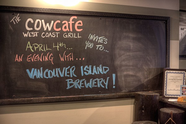Cow Cafe West Coast Grill - Beer Dinner Event - Cowichan Bay, Vancouver Island, BC, Canada