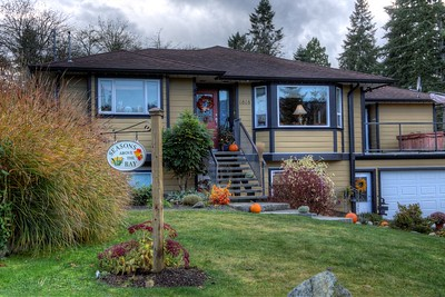 """Seasons Above the Bay Guest Suites and B&B - Cowichan Bay, Vancouver Island, BC, Canada Visit our blog """"A Lovely Island Getaway"""" for the story behind the photo."""