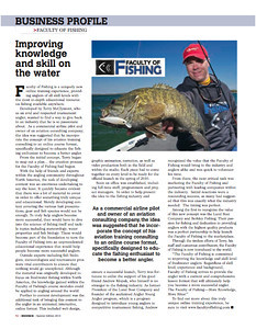 Hooked Magazine Spring 2010 Faculty of Fishing - Business Profile