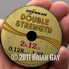 Drennan Double Strength 0.128 mm diameter 2 lb 12 oz breaking strain line spool. Will Raison fishes a small cage feeder with dead maggots and fishmeal for bream. © 2012 Brian Gay