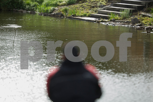 Float lands on water with a splash.<br /> Will Raison e-Magazine issue 57. © 2013 Brian Gay