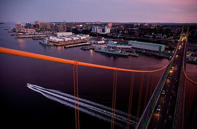Halifax from the MacDonald Bridge for Progress Magazine.
