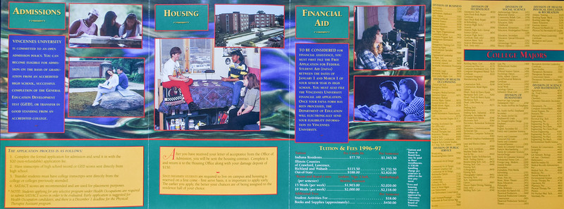 Vincennes University brochure photography